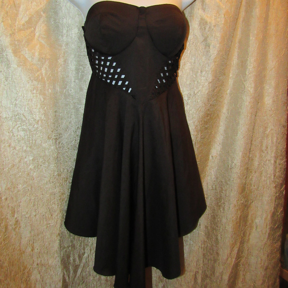 Love Culture Strapless Backless Lattice Dress L